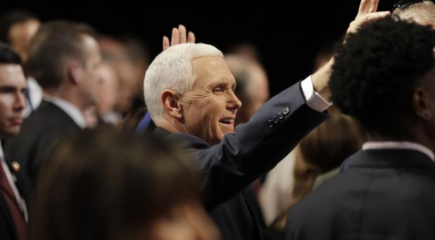 Mr Pence's comment whipped up an online storm (AP)