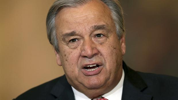 Antonio Guterres praised the UN Security Council for its swiftness and unity in approving him (AP)