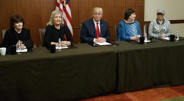 Donald Trump meets Bill Clinton's accusers before the US presidential TV debate (AP)