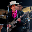 Bob Dylan on stage in 2010