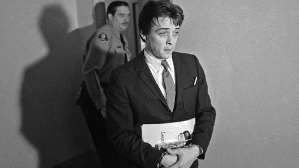 Robert KBeausoleil, then 21, leaves a courtroom in Los Angeles (AP)