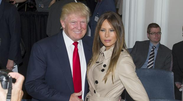 Donald Trump and his wife Melania