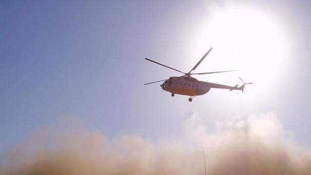 Mi-8 helicopters are used widely in Russia