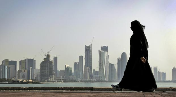 The stadium is being built about nine miles south of Doha (AP)