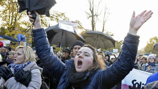 Polish women launched another round of protests against efforts by the nation's conservative leaders to tighten Poland's abortion law (AP)
