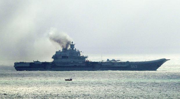The Russian aircraft carrier Admiral Kuznetsov has been sent to Syria
