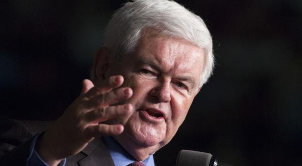 Newt Gingrich accused Megyn Kelly of ignoring former president Bill Clinton's sexual history (AP)