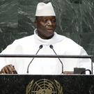 Gambia's president Yahya Jammeh at the United Nations headquarters (AP)
