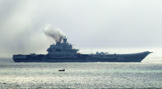 Russian aircraft carrier Admiral Kuznetsov passed through the North Sea and English Channel in recent days heading to the Mediterranean Sea