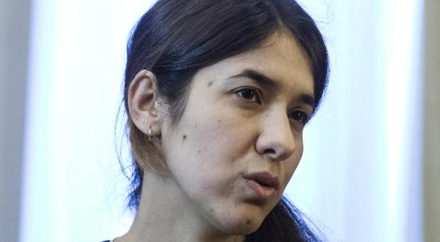 Iraqi Yazidi Nadia Murad Basee was one of the winners (AP)