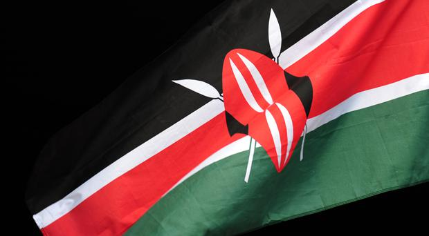 A man has been shot dead after stabbing a policeman guarding the perimeter wall of the US Embassy in Nairobi