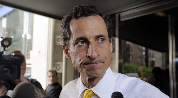 Anthony Weiner pictured in 2013 - the former New York politician is once again back in the spotlight (AP)