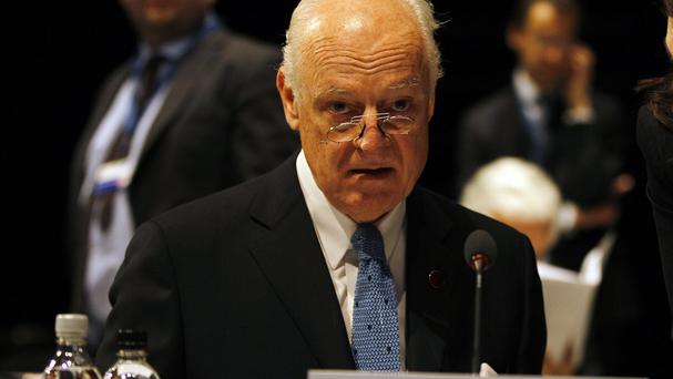 Staffan De Mistura says the attacks in Aleppo could amount to war crimes