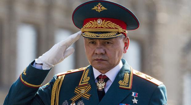 Mr Shoigu claimed rebels would not allow civilians to leave the areas they controlled (AP)