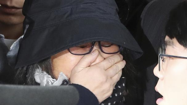South Korean prosecutors have applied for an arrest warrant for Choi Soon-sil, who is at the centre of a political scandal (AP)