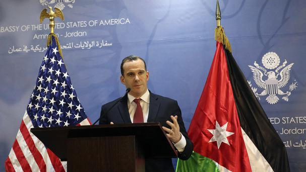 Brett McGurk, the White House envoy to the US-led military coalition against IS, pledges American air support for the offensive to retake Raqqa (AP)