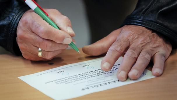 Last month's referendum in Hungary was declared invalid due to low voter turnout (AP)