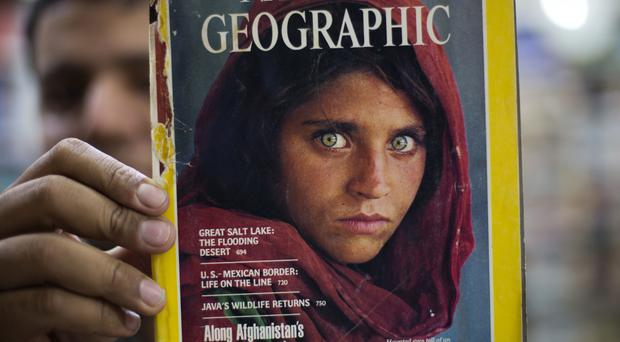 Sharbat Gulla is most recognisable as the Afghan refugee on the cover of National Geographic.