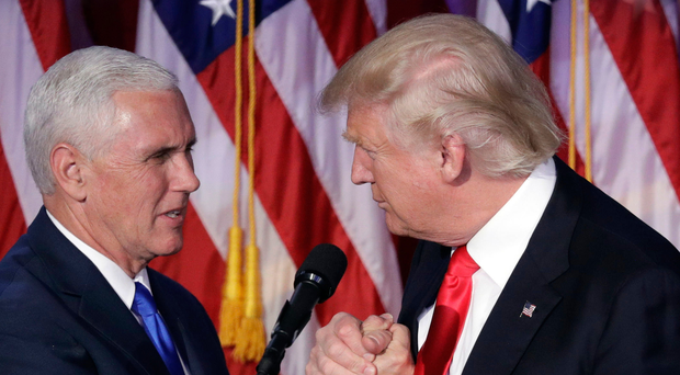 Donald Trump with Vice President-elect Mike Pence