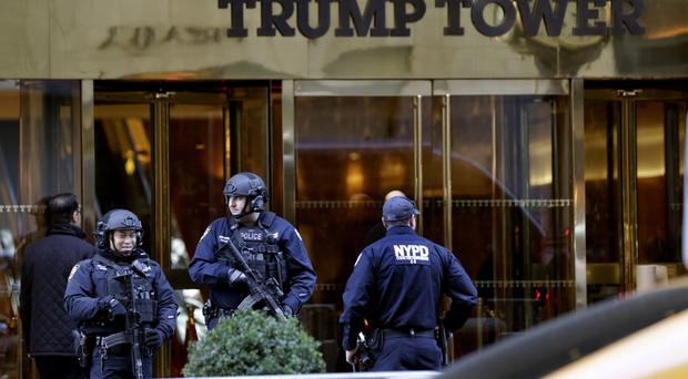 Police guarding Trump Tower