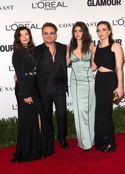 Bono with his wife Ali and daughters Eve and Jordan