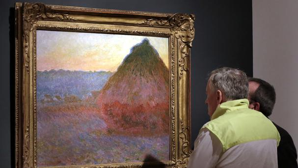 The painting was one of the few Grainstack artworks still in private hands (AP)