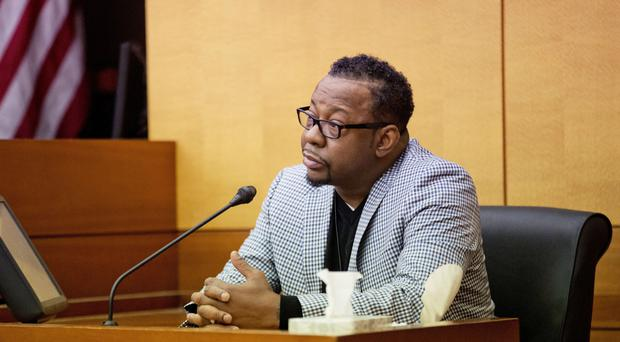 Bobby Brown giving evidence against his daughter Bobbi Kristina's partner, Nick Gordon, in Atlanta