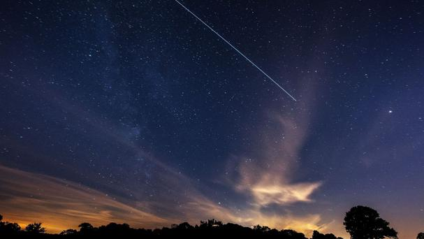 The International Space Station, seen passing over Belvoir Castle, has three new residents