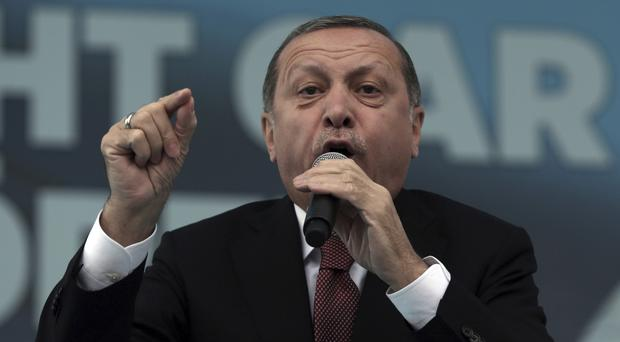 Latest controversial comments by Recep Tayyip Erdogan come as Turkey and Israel strive to improve relations (AP)