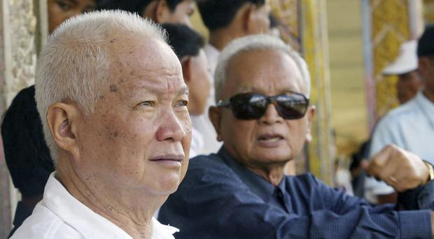 Former Khmer Rouge leaders Khieu Samphan, left, and Nuon Chea pictured in 2003 - a court has upheld their life sentences (AP)