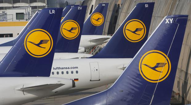 Lufthansa cancelled 876 services on Wednesday and said that around 100,000 passengers were affected (AP)