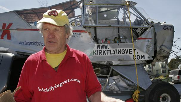 Maurice Kirk went missing while flying his plane across Africa (AP)