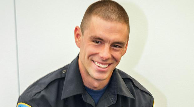 Police officer Collin Rose, who was shot in the head while on patrol near a university campus in Detroit, and later died of his injuries (Wayne State University/AP)