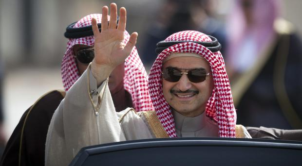 Prince Alwaleed Bin Talal leads a Saudi investment firm which holds stakes in several Western companies including Twitter (AP)