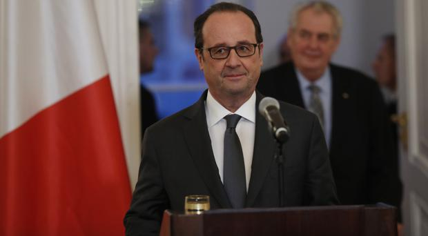 Francois Hollande said he had 'decided not to be a candidate in the presidential election' (AP)
