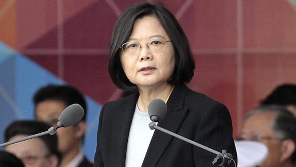 Donald Trump spoke by phone to Taiwanese president Tsai Ing-wen, pictured, who offered her congratulations on his election vistory (AP)