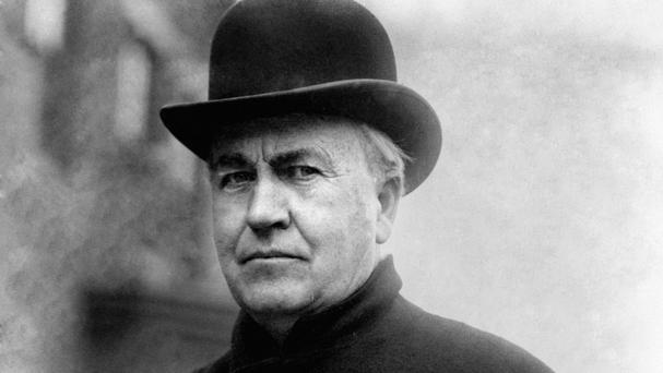 Inventor and businessman Thomas Edison