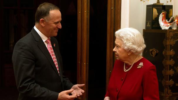 New Zealand prime minister John Key pictured with the Queen at Windsor Castle