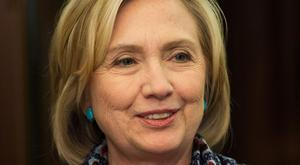 The gunman said he was investigating a conspiracy theory about US presidential candidate Hillary Clinton, pictured