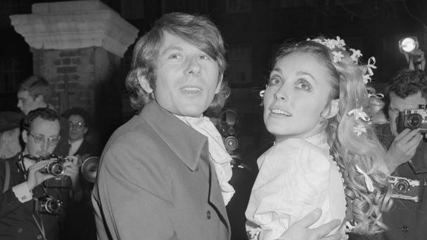 Roman Polanksi in 1968 at his wedding to actress Sharon Tate