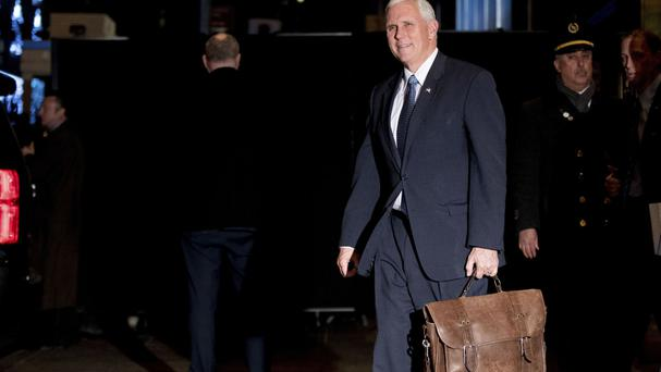 Vice President-elect Mike Pence leaves Trump Tower in New York (AP)