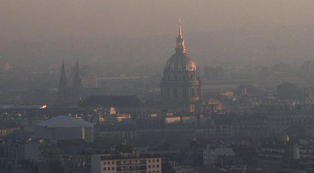 Paris has been hit by its worst winter pollution in a decade (AP)