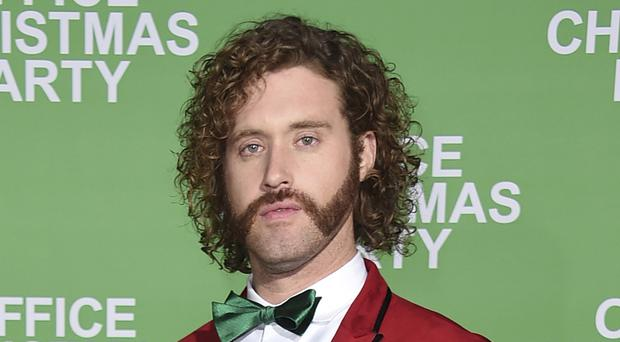 T.J. Miller at the Los Angeles premiere of Office Christmas Party (AP)