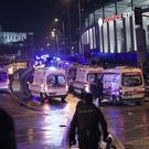 Rescue services rush to the scene near the Besiktas stadium (AP)