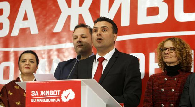 Zoran Zaev, the leader of the opposition SDSM (AP)