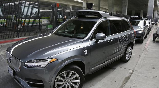 An Uber driverless car heads out for a test drive in San Francisco. (AP Photo/Eric Risberg)
