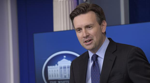 White House press secretary Josh Earnest speaks during the daily briefing at the White House in Washington (AP)