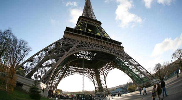 The Eiffel Tower in Paris was closed to tourists because of a strike