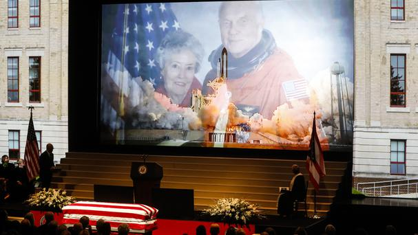 John Glenn died on December 8 aged 95 (AP/John Minchillo)