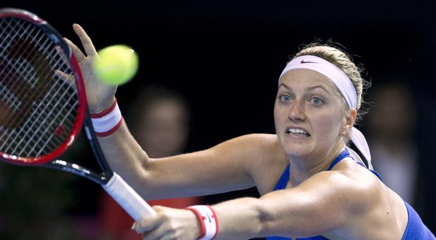 Kvitova suffered a left hand injury and has been treated by doctors (AP)
